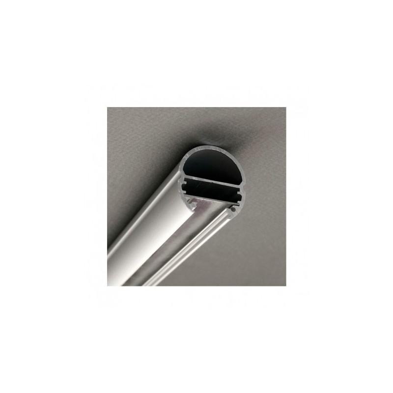 Profilé ovale aluminium anodisé 2m pour bandeaux LED VISION EL