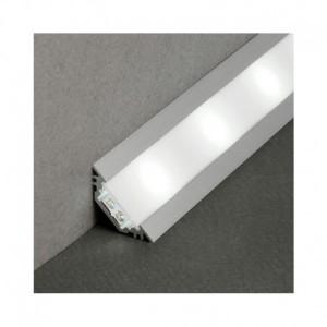 Profilé angle 45° aluminium anodisé 2m pour bandeaux LED VISION EL