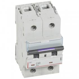 Disjoncteur DX³ 50kA - 2P 230V~ à 400V~ - 40A - courbe C - 3 modules LEGRAND