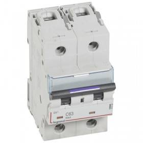 Disjoncteur DX³ 50kA - 2P 230V~ à 400V~ - 63A - courbe C - 3 modules LEGRAND