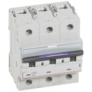 Disjoncteur DX³ 50kA - 3P 400V~ - 25A - courbe C - 4,5 modules LEGRAND