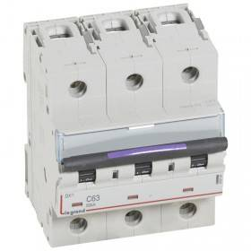 Disjoncteur DX³ 50kA - 3P 400V~ - 63A - courbe C - 4,5 modules LEGRAND