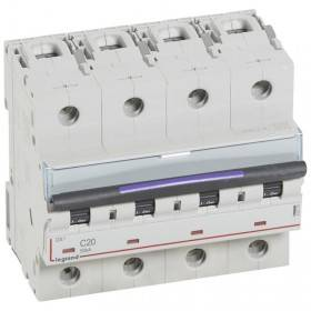 Disjoncteur DX³ 50kA - 4P 400V~ - 20A - courbe C - 6 modules LEGRAND