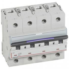 Disjoncteur DX³ 50kA - 4P 400V~ - 25A - courbe C - 6 modules LEGRAND