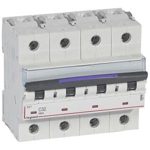 Disjoncteur DX³ 50kA - 4P 400V~ - 32A - courbe C - 6 modules LEGRAND