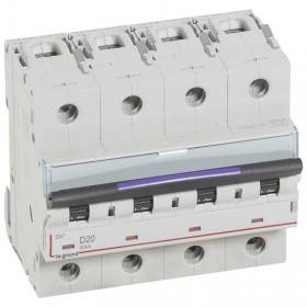 Disjoncteur DX³ 50kA - 4P 400V~ - 20A - courbe D - 6 modules LEGRAND