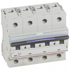Disjoncteur DX³ 50kA - 4P 400V~ - 25A - courbe D - 6 modules LEGRAND