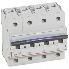 Disjoncteur DX³ 50kA - 4P 400V~ - 63A - courbe D - 6 modules LEGRAND