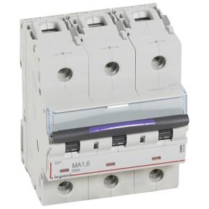Disjoncteur magnétique seul DX³-M 50kA - 3P 400V~ - 1,6A - 4,5 modules LEGRAND