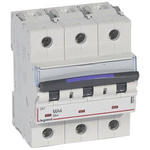 Disjoncteur magnétique seul DX³-M 50kA - 3P 400V~ - 4A - 4,5 modules LEGRAND