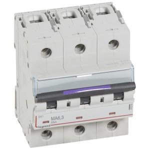 Disjoncteur magnétique seul DX³-M 50kA - 3P 400V~ - 6,3A - 4,5 modules LEGRAND