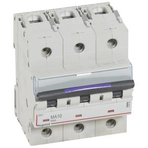Disjoncteur magnétique seul DX³-M 50kA - 3P 400V~ - 10A - 4,5 modules LEGRAND