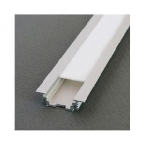 Profilé rainure aluminium brut 2m pour bandeaux LED VISION EL