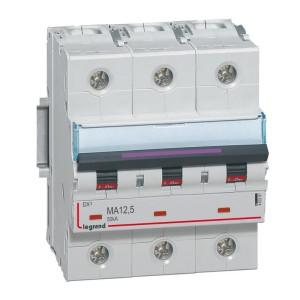 Disjoncteur magnétique seul DX³-M 50kA - 3P 400V~ - 12,5A - 4,5 modules LEGRAND