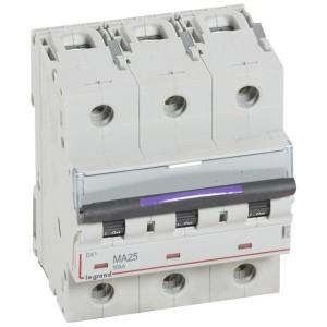 Disjoncteur magnétique seul DX³-M 50kA - 3P 400V~ - 25A - 4,5 modules LEGRAND