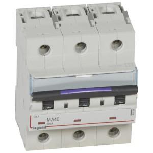 Disjoncteur magnétique seul DX³-M 50kA - 3P 400V~ - 40A - 4,5 modules LEGRAND