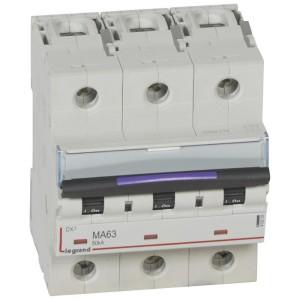 Disjoncteur magnétique seul DX³-M 50kA - 3P 400V~ - 63A - 4,5 modules LEGRAND