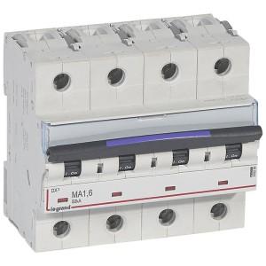 Disjoncteur magnétique seul DX³-M 50kA - 4P 400V~ - 1,6A - 6 modules LEGRAND