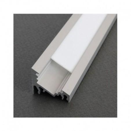 Profilé angle 30/60° aluminium anodisé 1m pour bandeaux LED VISION EL