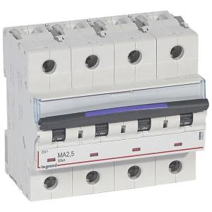 Disjoncteur magnétique seul DX³-M 50kA - 4P 400V~ - 2,5A - 6 modules LEGRAND