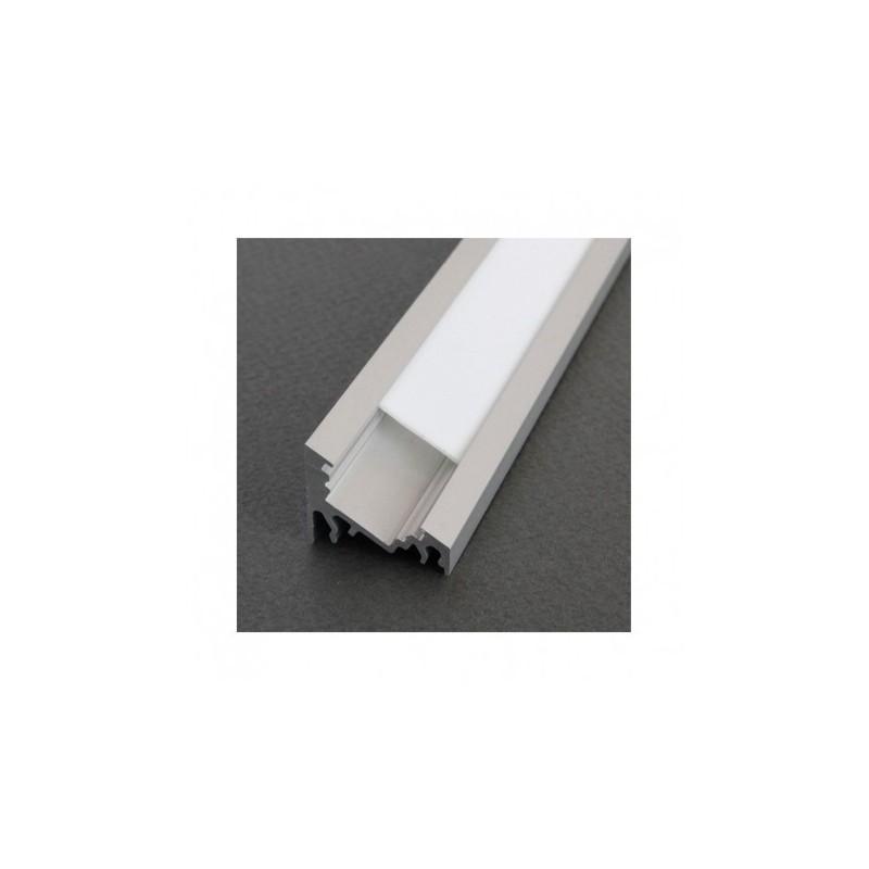 Profilé angle 30/60° aluminium anodisé 2m pour bandeaux LED VISION EL