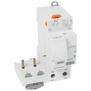 Bloc différentiel adaptable DX³ 2P 230V~ - 63A - typeAC 30mA - pour disj 1 module/pôle LEGRAND