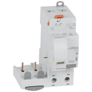 Bloc différentiel adaptable DX³ 2P 230V~ - 40A - typeAC 300mA - pour disj 1 module/pôle LEGRAND