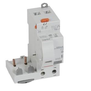 Bloc différentiel adaptable DX³ 2P 230V~ - 63A - typeAC 300mA - pour disj 1 module/pôle LEGRAND