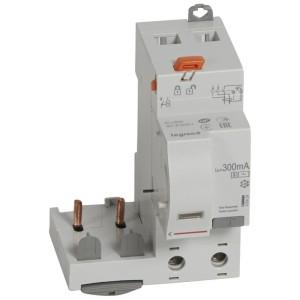 Bloc différentiel adaptable DX³ 2P 230V~ - 63A - typeAC 300mA sélectif - pour disj 1 module/pôle LEGRAND