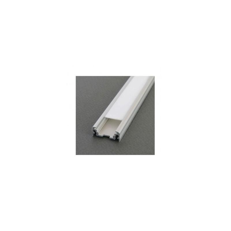 Profilé plat aluminium anodisé 1m pour bandeaux LED VISION EL