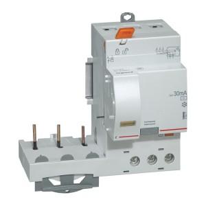 Bloc différentiel adaptable DX3 3P 400V~ - 40A - typeAC 30mA - pour disj 1 module/pôle LEGRAND