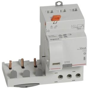 Bloc différentiel adaptable DX3 3P 400V~ - 63A - typeAC 30mA - pour disj 1 module/pôle LEGRAND