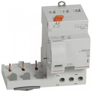 Bloc différentiel adaptable DX3 3P 400V~ - 40A - typeAC 300mA - pour disj 1 module/pôle LEGRAND