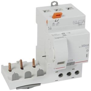 Bloc différentiel adaptable DX3 3P 400V~ - 63A - typeAC 300mA - pour disj 1 module/pôle LEGRAND