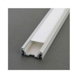 Profilé plat aluminium anodisé 2m pour bandeaux LED VISION EL