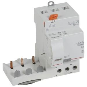 Bloc différentiel adaptable DX3 3P 400V~ - 63A - typeF 30mA - pour disj 1 module/pôle LEGRAND