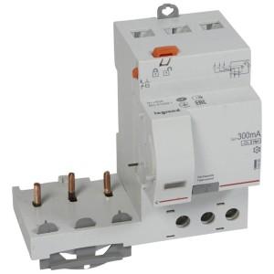 Bloc différentiel adaptable DX3 3P 400V~ - 63A - typeF 300mA - pour disj 1 module/pôle LEGRAND