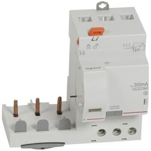 Bloc différentiel adaptable DX3 3P 400V~ - 63A - typeF 300mA sélectif - pour disj 1 module/pôle LEGRAND