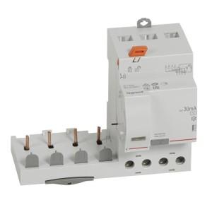 Bloc différentiel adaptable DX3 4P 400V~ - 40A - typeAC 30mA - pour disj 1 module/pôle LEGRAND