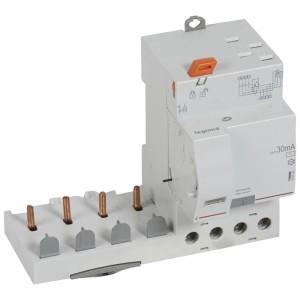 Bloc différentiel adaptable DX3 4P 400V~ - 63A - typeAC 30mA - pour disj 1 module/pôle LEGRAND