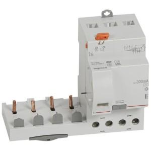 Bloc différentiel adaptable DX3 4P 400V~ - 63A - typeAC 300mA - pour disj 1 module/pôle LEGRAND