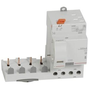 Bloc différentiel adaptable DX3 4P 400V~ - 40A - typeAC 300mA - pour disj 1 module/pôle LEGRAND