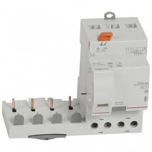 Bloc différentiel adaptable DX3 4P 400V~ - 40A - typeAC 300mA sélectif - pour disj 1 module/pôle LEGRAND