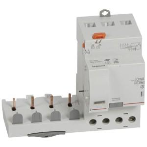 Bloc différentiel adaptable DX3 4P 400V~ - 40A - typeF 30mA - pour disj 1 module/pôle LEGRAND