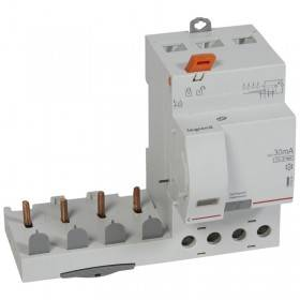 Bloc différentiel adaptable DX3 4P 400V~ - 63A - typeF 30mA - pour disj 1 module/pôle LEGRAND