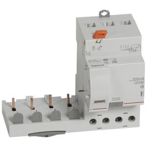 Bloc différentiel adaptable DX3 4P 400V~ - 40A - typeF 300mA - pour disj 1 module/pôle LEGRAND