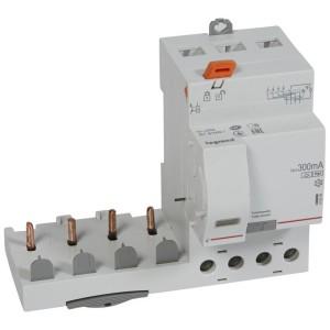 Bloc différentiel adaptable DX3 4P 400V~ - 63A - typeF 300mA - pour disj 1 module/pôle LEGRAND