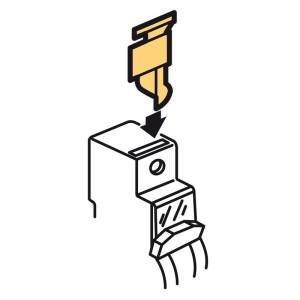 Cache vis plombable pour disjoncteur DX3 - 1 mod./pôle - 4 pôles sécables LEGRAND