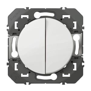 Double interrupteur ou va-et-vient DOOXIE 10AX 250V~ finition blanc LEGRAND