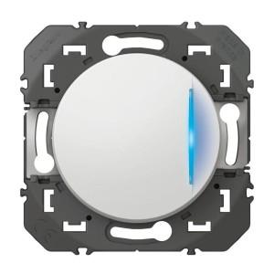 Interrupteur ou va-et-vient avec voyant témoin DOOXIE 10AX 250V~ finition blanc LEGRAND
